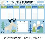 childish weekly planner and to... | Shutterstock .eps vector #1241674357