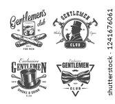vintage monochrome gentleman... | Shutterstock .eps vector #1241676061