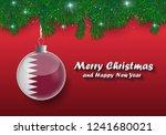 vector border of christmas tree ... | Shutterstock .eps vector #1241680021