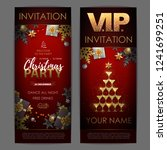 christmas poster with golden...   Shutterstock .eps vector #1241699251