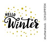 hello winter seasonal greeting... | Shutterstock .eps vector #1241699554