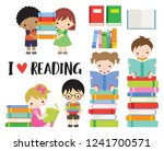 vector illustration of school... | Shutterstock .eps vector #1241700571