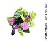exotic bird vector illustration ...   Shutterstock .eps vector #1241708461