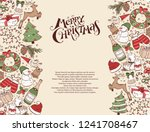 hand drawn merry christmas...   Shutterstock .eps vector #1241708467