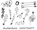 doodle vector arrows. isolated. ... | Shutterstock .eps vector #1241714377