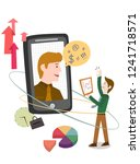using a mobile phone | Shutterstock .eps vector #1241718571