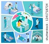 isometric medicine composition... | Shutterstock .eps vector #1241718724