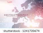 geometric graphic background... | Shutterstock .eps vector #1241720674