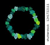 sea green tropical jungle... | Shutterstock .eps vector #1241722111