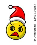 new year's yellow scared...   Shutterstock .eps vector #1241724064