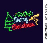 happy merry christmas holiday... | Shutterstock .eps vector #1241731447