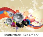 abstract musical background   Shutterstock .eps vector #124174477
