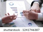 close up.employees discuss... | Shutterstock . vector #1241746387