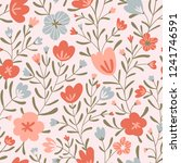 trendy seamless floral ditsy... | Shutterstock .eps vector #1241746591