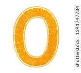 number  digit  0  zero  orange  ... | Shutterstock . vector #1241747734
