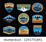 vector set of wilderness and... | Shutterstock .eps vector #1241751841