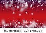 falling snow background.... | Shutterstock .eps vector #1241756794