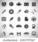 car parts and repair icon set... | Shutterstock .eps vector #1241757367