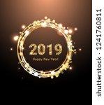 2019 new year card  | Shutterstock .eps vector #1241760811