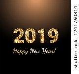 2019 new year card  | Shutterstock .eps vector #1241760814