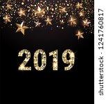 2019 new year card  | Shutterstock .eps vector #1241760817