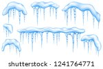 set of snowdrifts with light... | Shutterstock . vector #1241764771