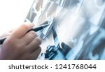doctor analysis x ray film in... | Shutterstock . vector #1241768044