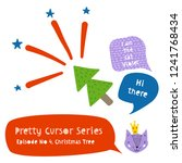 series of cute funny cursors or ...   Shutterstock .eps vector #1241768434