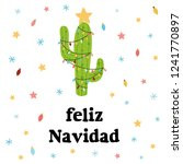 merry christmas banner. happy... | Shutterstock .eps vector #1241770897