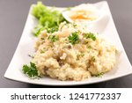 risotto with mushroom and... | Shutterstock . vector #1241772337