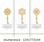 vector set of luxury golden... | Shutterstock .eps vector #1241773144