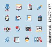 office icon set | Shutterstock .eps vector #1241774677