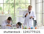 scientist young female and old... | Shutterstock . vector #1241775121