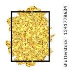 gold brush stroke in black... | Shutterstock .eps vector #1241778634