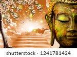 3d wallpaper  buddha depicted... | Shutterstock . vector #1241781424