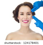 portrait of attractive smiling... | Shutterstock . vector #124178401