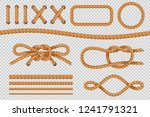 rope elements. marine cord... | Shutterstock .eps vector #1241791321