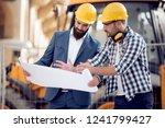 group of engineering team is... | Shutterstock . vector #1241799427