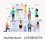 business team working. office... | Shutterstock .eps vector #1241803174