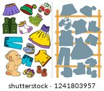 logic tasks for preschool...   Shutterstock .eps vector #1241803957