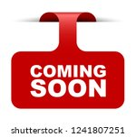 red vector banner coming soon | Shutterstock .eps vector #1241807251