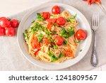 pasta al pomodoro   spaghetti... | Shutterstock . vector #1241809567