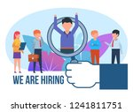 we are hiring  personnel...   Shutterstock .eps vector #1241811751