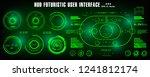 hud futuristic green user...