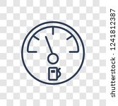 car petrol gauge icon. trendy... | Shutterstock .eps vector #1241812387
