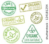 organic and natural food.... | Shutterstock .eps vector #124181254