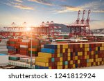 logistics and transportation of ... | Shutterstock . vector #1241812924