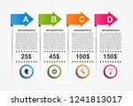 infographics template with... | Shutterstock .eps vector #1241813017