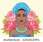 animation portrait of the... | Shutterstock .eps vector #1241813491