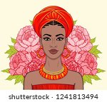 animation portrait of the... | Shutterstock .eps vector #1241813494